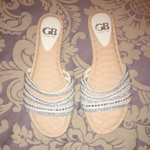 Gianni Bini studded slide sandals NEW